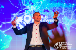 Marnick Vandebroek hosting world employer branding day in prague