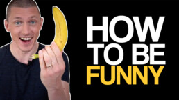 how to be funny, marnick holding a banana