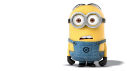 Bored Minion looking at online webinar